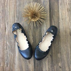 yosi samra • leather scrunch ballet flats